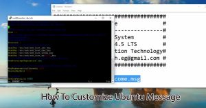 How To Customize Ubuntu Message